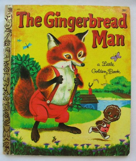 The Gingerbread Man, Vintage Little Golden Book, illustrated by Richard Scarry, 7th Printing, 'G' Edition