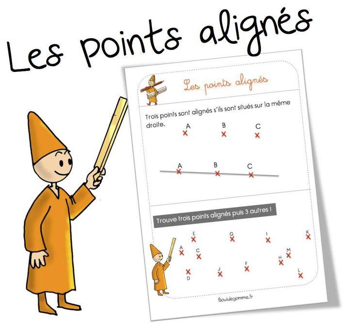 Leçon géométrie : les points alignés - Bout de gomme