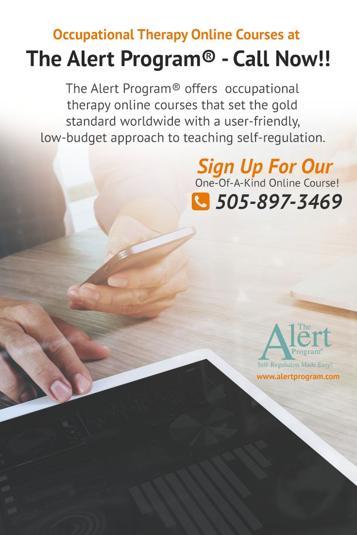 The Alert Program® offers #occupational therapy online courses that set the gold standard worldwide with a user-friendly, low-budget approach to teaching self-regulation.