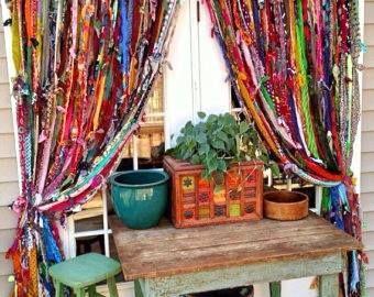 Moonbeams and Mayhem DIY Rag Curtains