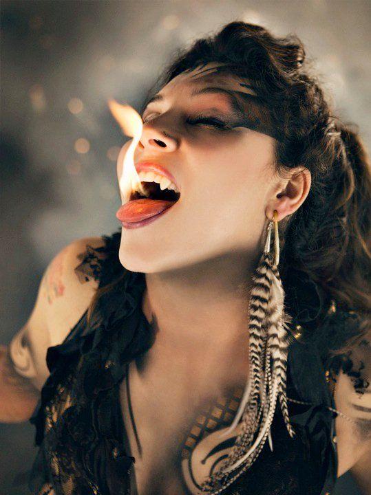 Fire and fangs / #dark_circus #night_circus #carnival