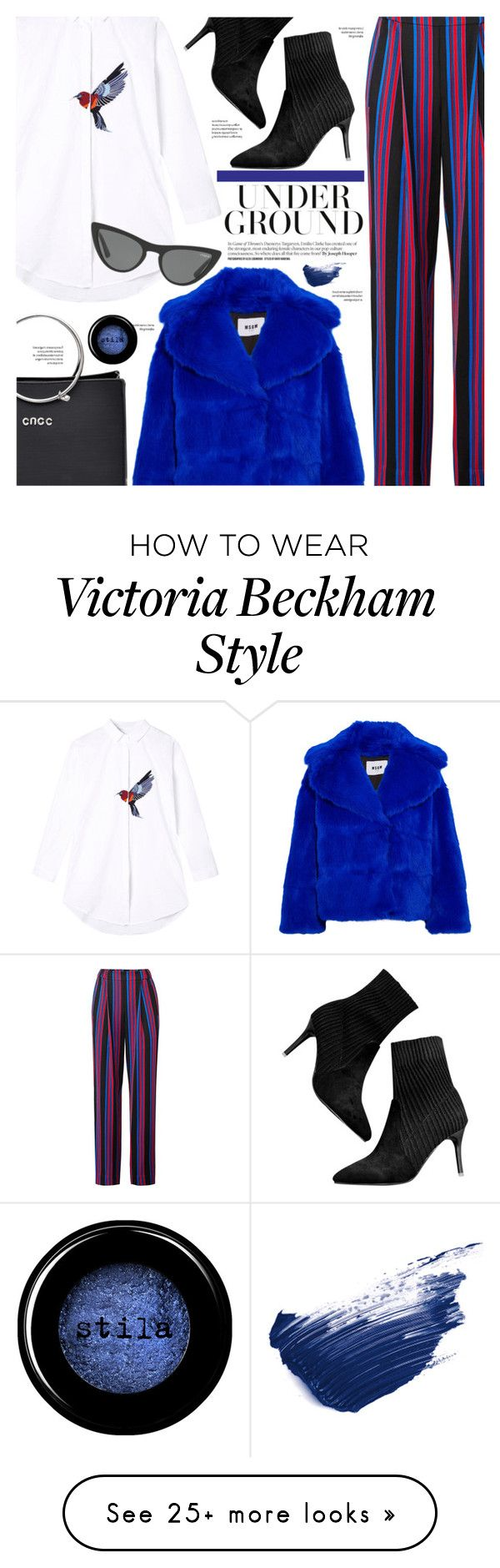 """""""#PolyPresents"""" by chocolate-addicted-angel on Polyvore featuring Diane Von Furstenberg, MSGM, Stila, By Terry and Victoria, Victoria Beckham"""