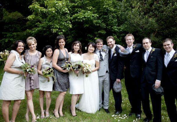 Grey Bridesmaid Dresses Photos