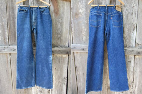 70s Insulated Levis 517 Saddleman Boot Cut Jeans, W34 L32 // Western Winter Jeans // Orange Tab Levi's, Made in USA