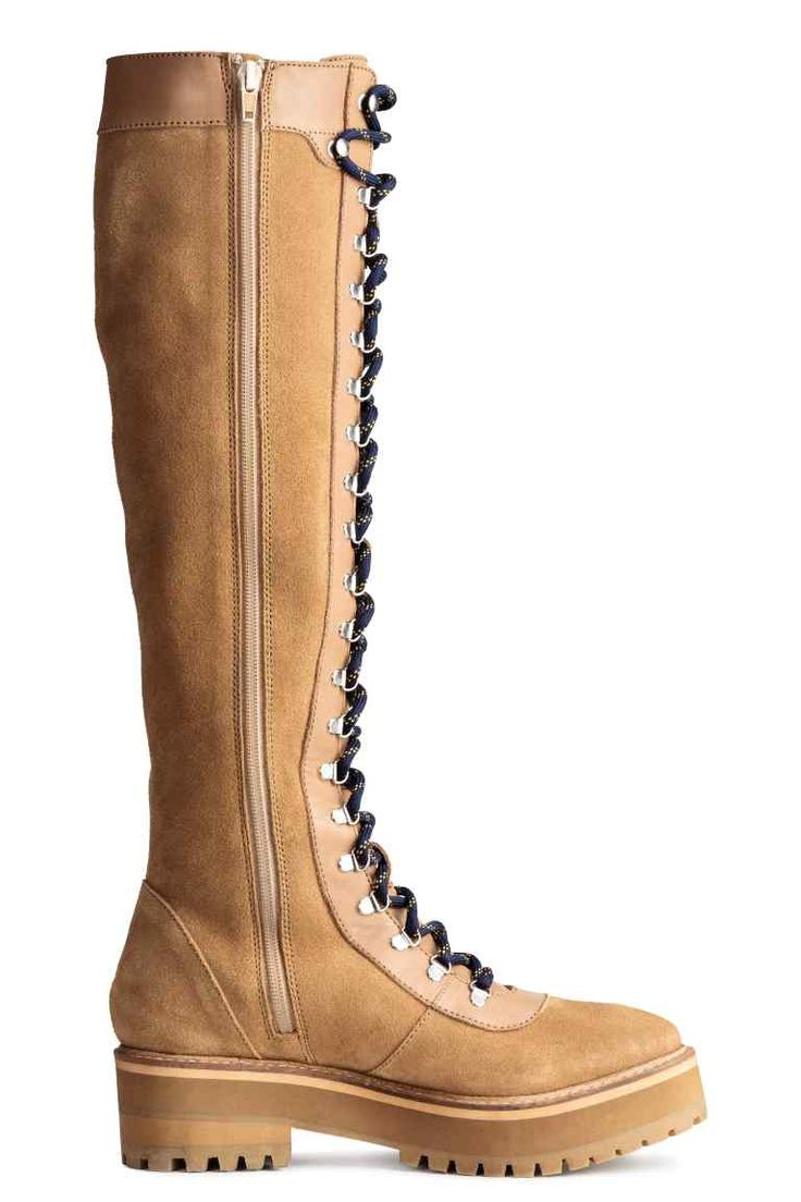 Knee-high leather boots | H&M