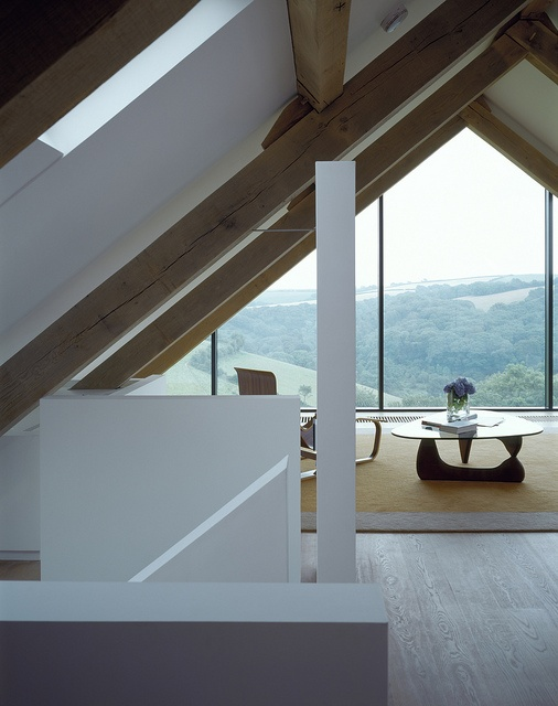 under eaves loft at rowden house