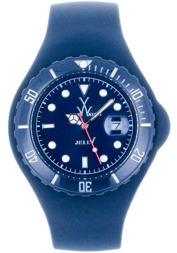 Price:$92.50 #watches ToyWatch JTB19DB, Plastic case, Silicone strap, Dark blue dial, Quartz movement, Scratch-resistant mineral, Water resistant mineral, Water resistant up to 5 ATM - 50 meters - 165 feet