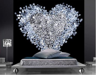 789.00 Fleece Mural Diamond Heart Elegant and exclusive wall decoration has never been so easy! Our new Fleece Wall Murals with their fascinative designs transform your walls into a piece of art in a few minutes.