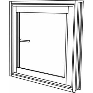 Polar Eco-View 600 x 600mm White Birch Double Glazed Openable Window