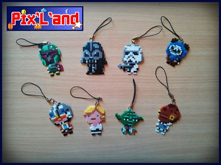 Star Wars charms hama mini beads by Pix-l-and