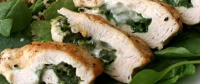 Spinach Stuffed Chicken Recipe.  One of many Healthy, Cheap & Easy meals in our FREE E-Cook Book!  Get it here...