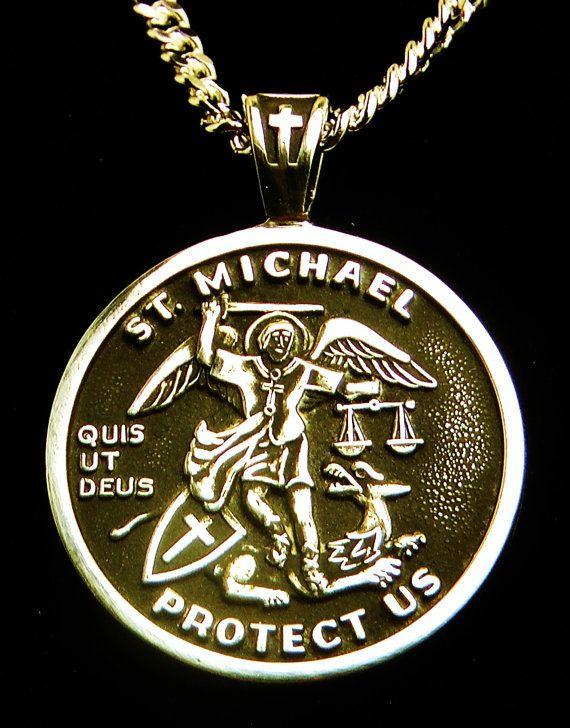 9 best medal of st michael archangel images on pinterest saint st michael medal sterling silver archangel patron saint of aloadofball Gallery