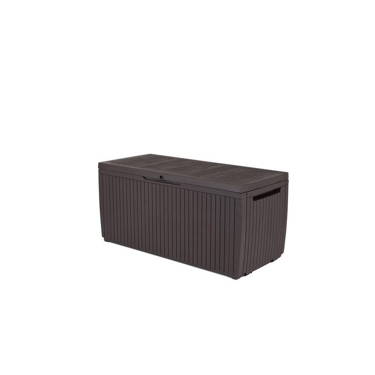 Keter Springwood 80 Gal. Resin Deck Box in Espresso Brown-228832 – Products