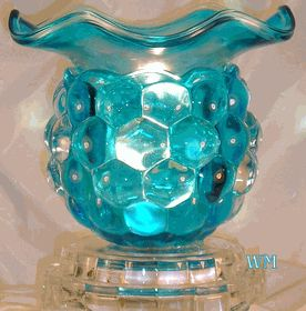 BLUE MAJESTY Electric Oil Warmer (W80509) has a dimmer control on a 5' cord - $14.99
