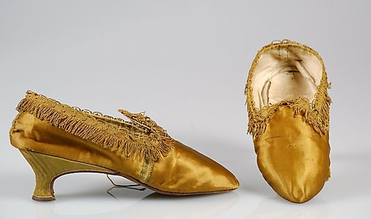 Slippers, 1780–89, European, Silk. (c) Brooklyn Museum Costume Collection at The Metropolitan Museum of Art