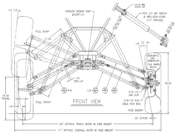 racing go kart frame blueprints