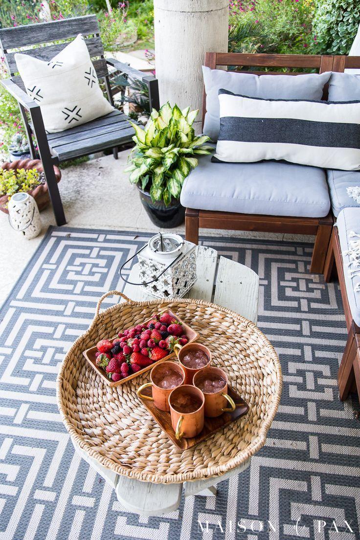 Summer Porch Decor Ideas Ferns And Succulents Maison De Pax Summer Outdoor Decor Summer Porch Decor Porch Decorating