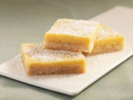 Two Ingredient Lemon Bars recipe from Betty Crocker (not the ones pictured, no image was available) also...try 2 cans of lemon filling per another user.