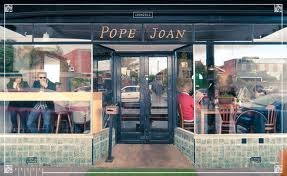 Pope Joan, taylormadesigns, decals, cafe