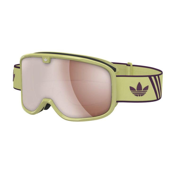 Men's Adidas Originals Goggles - Adidas Originals Rookie Goggles. Solar Yellow/Merlot - Red Mirror