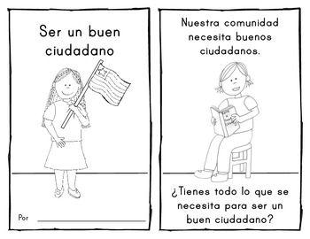 **SPANISH** {Being a Good Citizen} EMERGENT READER for