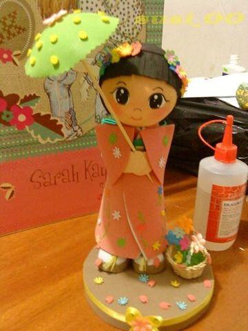fofucha geisha con moldes