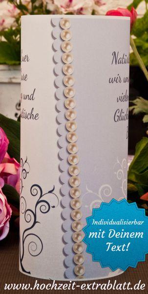 Lichthüllen (10 Stk.) als Menükarte oder als Tischdeko mit gewünschten Texten für Ihre Hochzeit, Geburtstag, Taufe, Kommunion oder sonstige Feste. ...