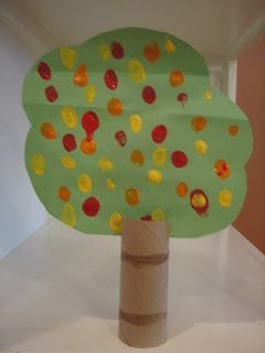 This is a great craft for even young children. I think it turned out so cute.    You will need: Red, yellow and orange paint, scissors, toi...