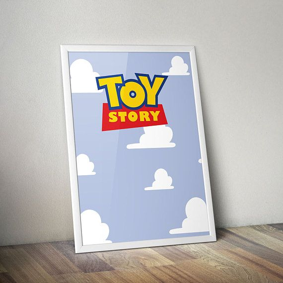 Toy Story Inspired Poster Print | Clouds | Wall Art | Minimalist | Kids Room Decor | Disney Pixar | Nursery Art | Nursery Decor | Disney