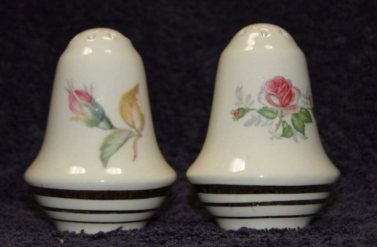 Salem China Mt Vernon Salt Pepper Shakers RARE EXCELLENT #SalemChina : salt and pepper dinnerware - Pezcame.Com