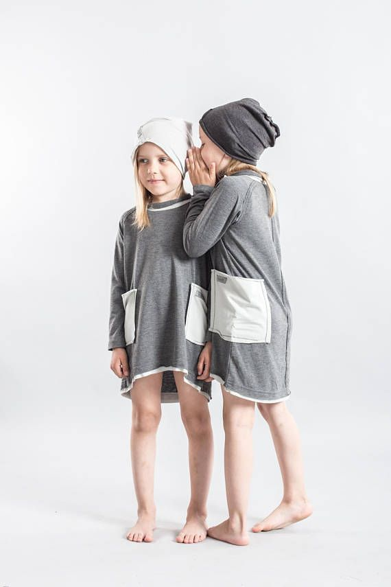 Girl Toddler Stylish Dress Stylish Kids Clothes Gray Girl