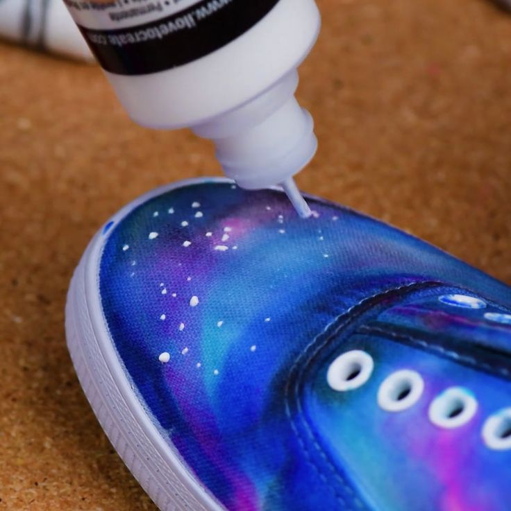 Jump into space with this DIY Galaxy shoes!
