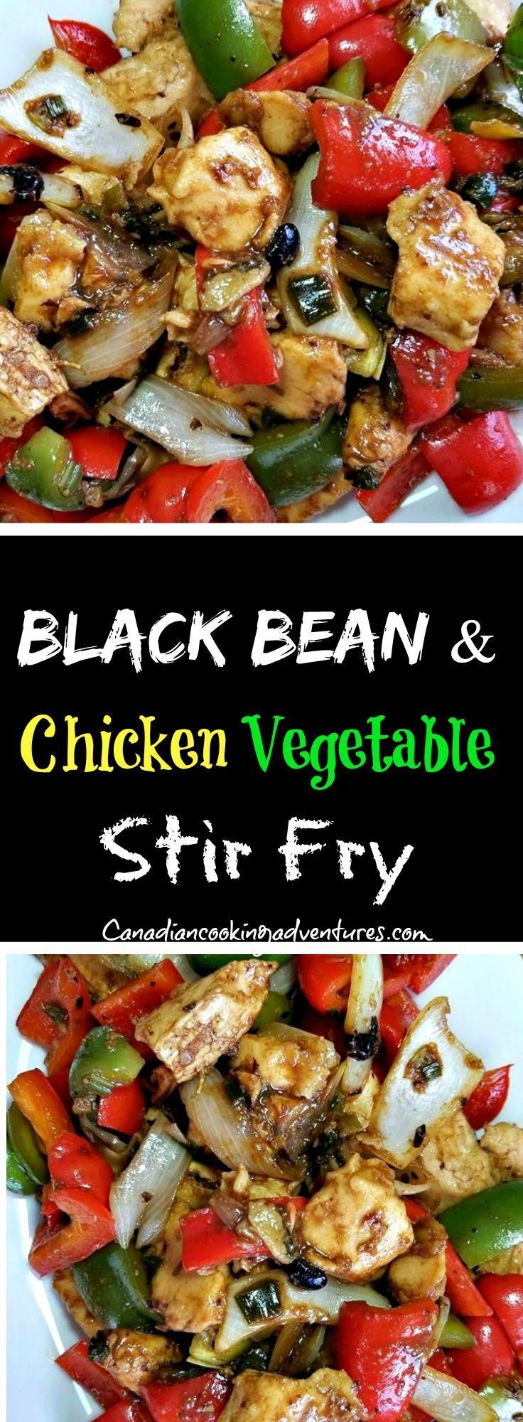 Black Bean & Chicken Vegetable Stir Fry