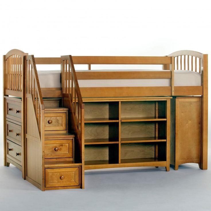 Loft Bed Storage Ideas 16 best bed/loft ideas images on pinterest | 3/4 beds, lofted beds
