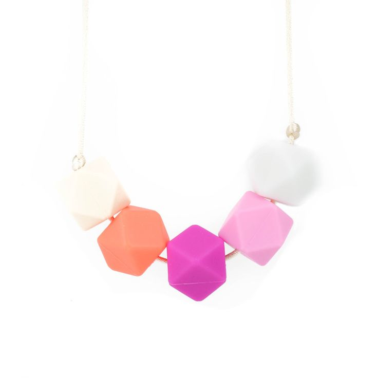 Geometric Silicone Teething Necklace - Freya by Glitter & Spice