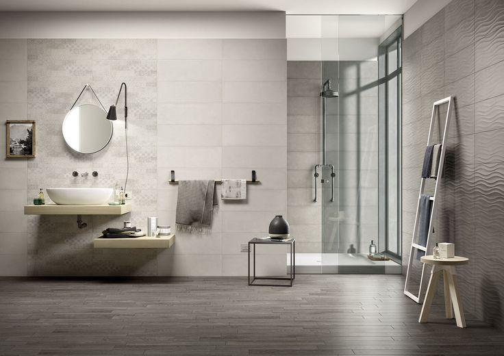 Clayline, el azulejo efecto cotto/cemento. #marazzi #reforma #estilo #baño #ceramica #hogar