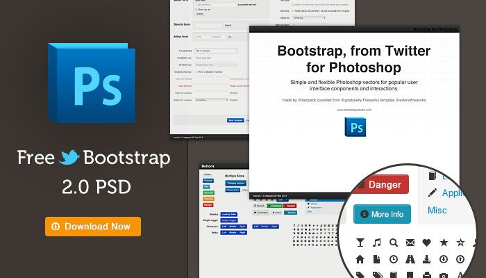 Free Bootstrap from Twitter PSD template. Check it out.