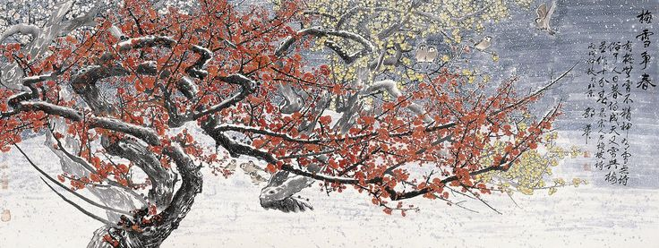 Snow Plum Trees Seeking Spring by guohua on DeviantArtGuo Hua