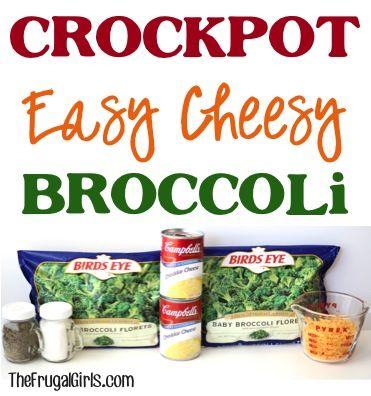 Crockpot Easy Cheesy Broccoli Recipe at TheFrugalGirls.com