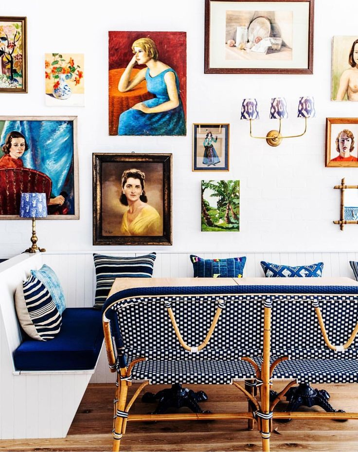 Bright White Walls With Stunning Bold Artwork Displayed Gallery Style