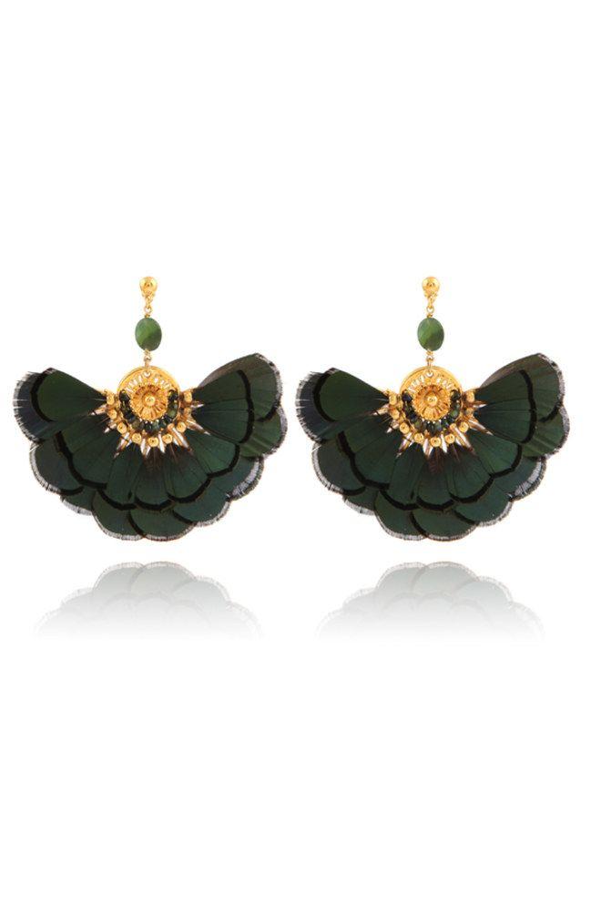 bijoux à plumes : boucles d'oreilles GAS