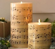 music candles: Ideas, Music Note, Pb Knock, Christmas, Sheet Music, Music Sheet, Music Candles, Pottery Barns, Crafts