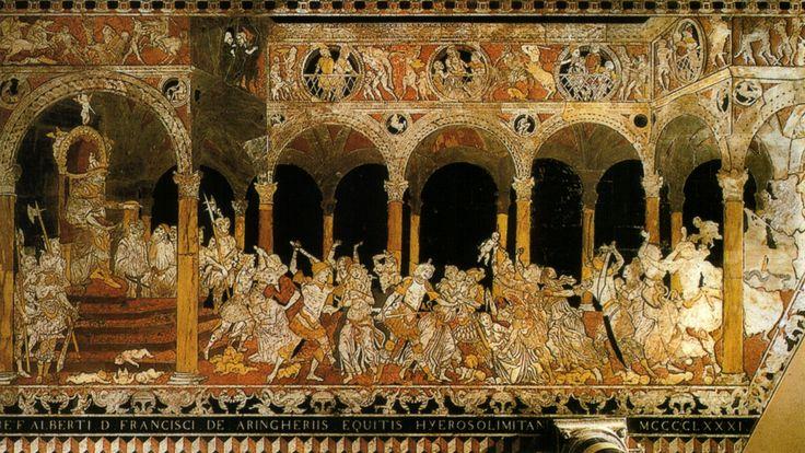 Pavimento del Duomo di #Siena - Strage degli innocenti (1481-1482) - #DuomoDiSiena - vai alla pagina http://iltesorodisiena.tumblr.com/post/107701464567/pavimento-del-duomo-di-siena-transetto-sinistro