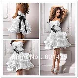 Black And White Short Wedding Dress I Think So A Perfect Biker