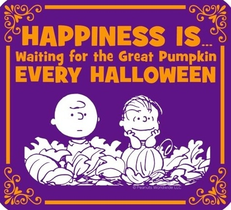 happiness and pumpkins on halloween snoopy cartoon via wwwfacebookcomsnoopy great pumpkin charlie brownholidays - Charlie Brown Halloween Cartoon