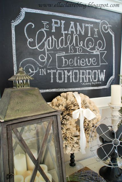 Want to make a beautiful chalk board sign for your craft booth? Here's how to draw on your chalk board like a pro