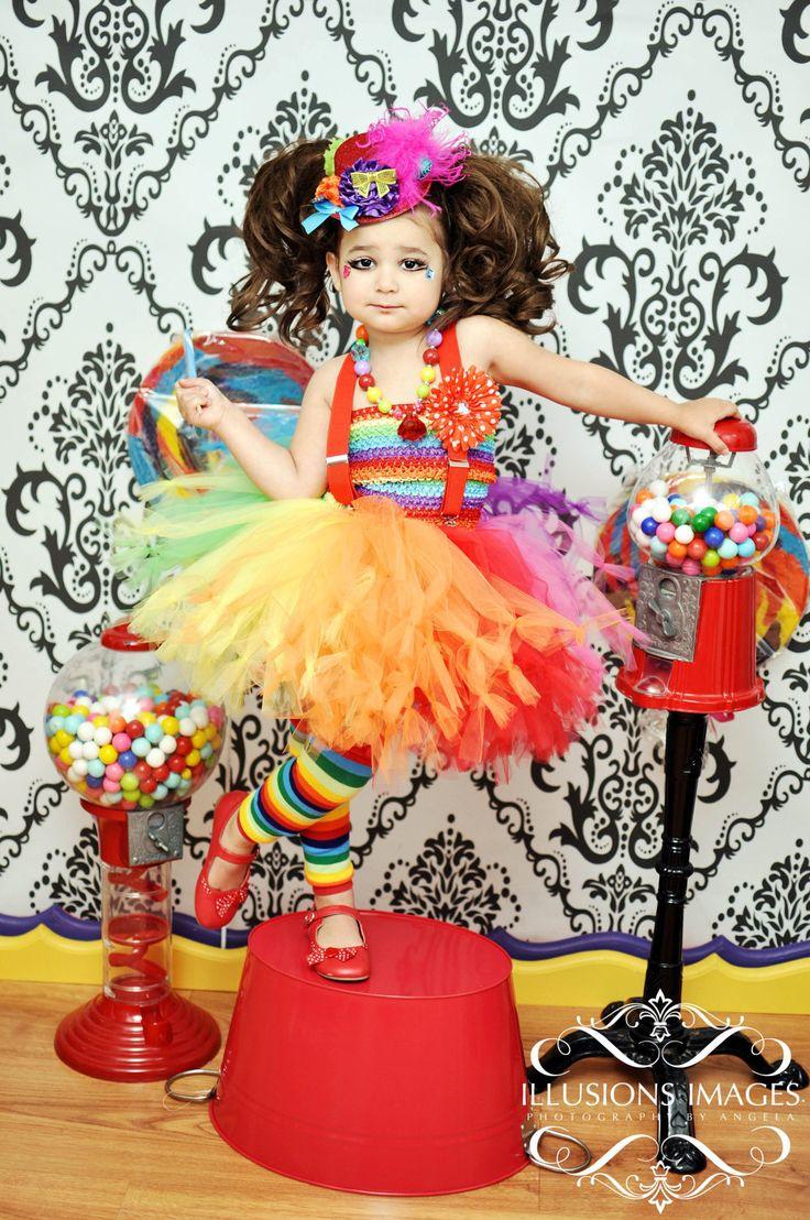 Toddler girls clown tutu costume 2T 3T 4T petti by cutiepiegoodies, $100.00
