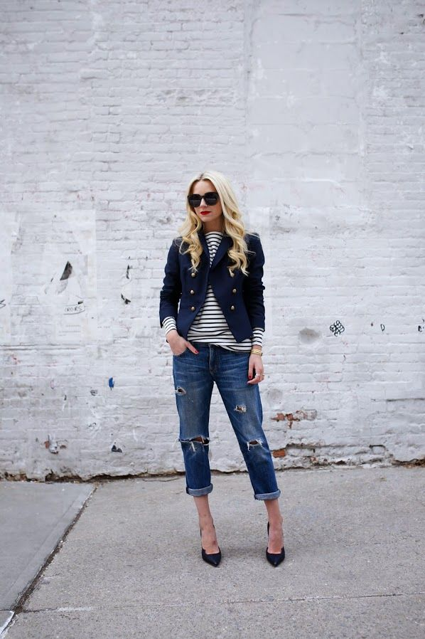 blair eadie of atlantic-pacific styles her current/elliott boyfriend jeans. shop these and all boyfriend styles now at 25% off during our #friendsandfamiliy sale from now until March 16, 2015