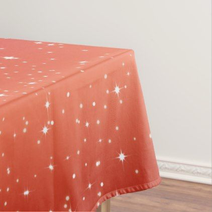 Simple Stars / Red Gradient Background Tablecloth - family gifts love personalize gift ideas diy