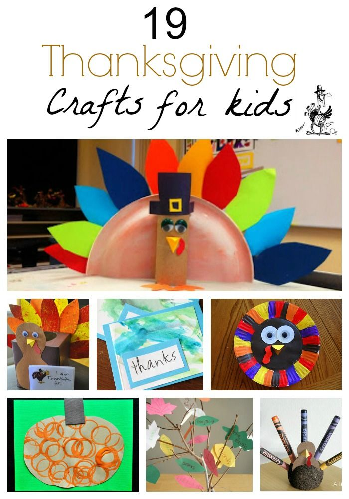19 Quick and Easy Thanksgiving Crafts For Kids  Love the pumpkin painted using toilet paper rolls!